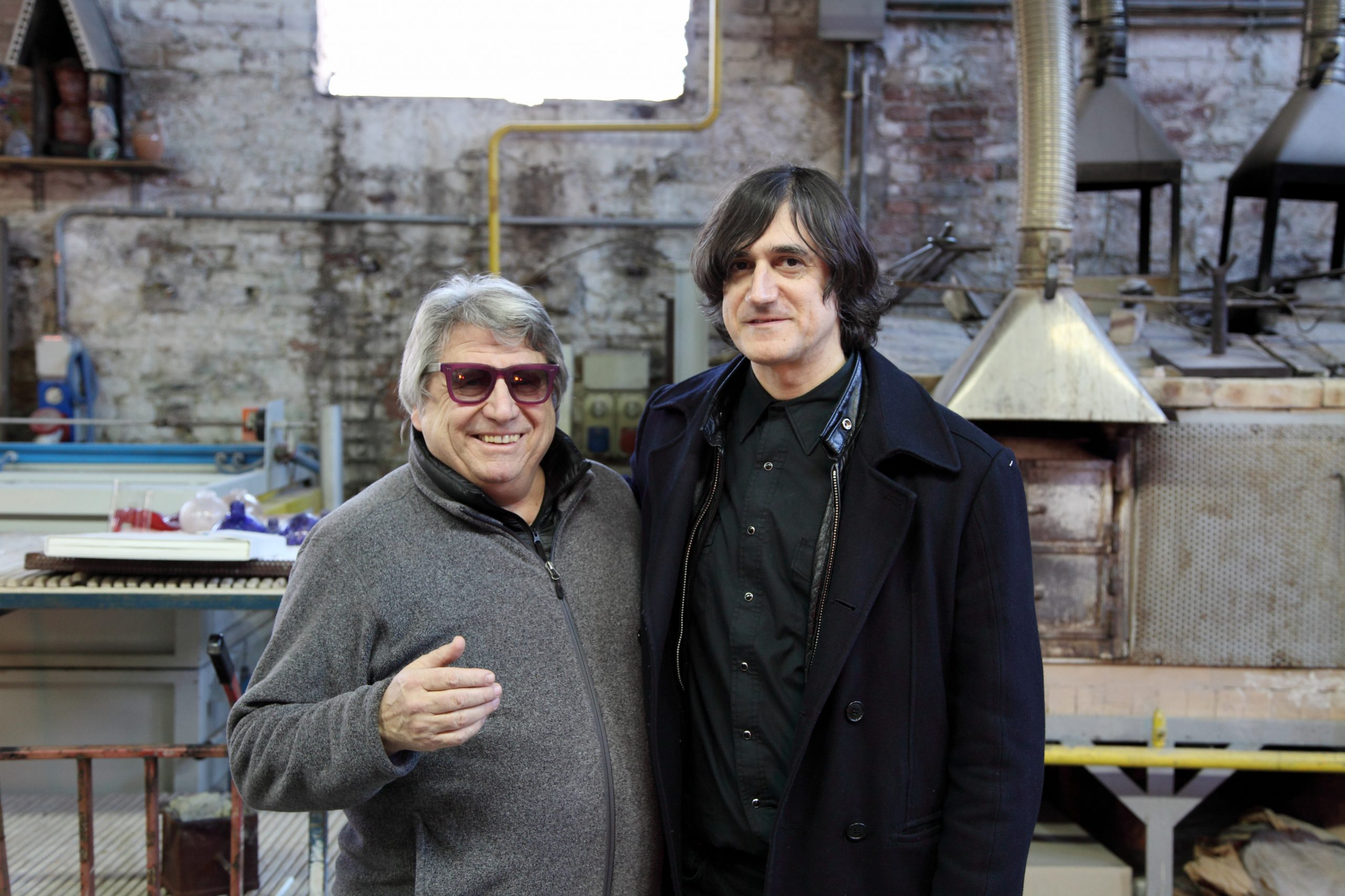 Adriano Berengo and Cameron Jamie in Berengo Studio 2017