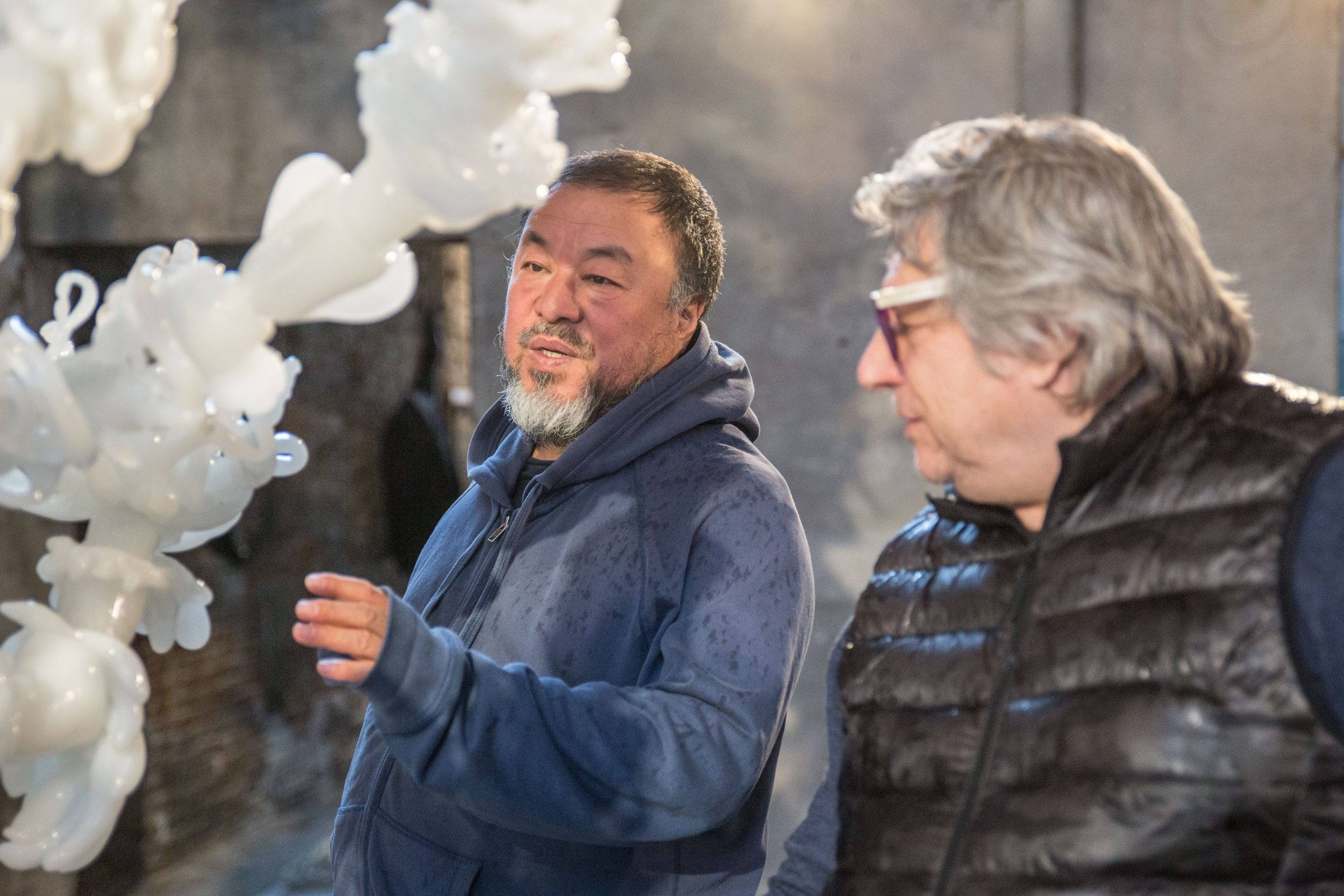 Ai Weiwei and Adriano Bering working for Glasstress 2017