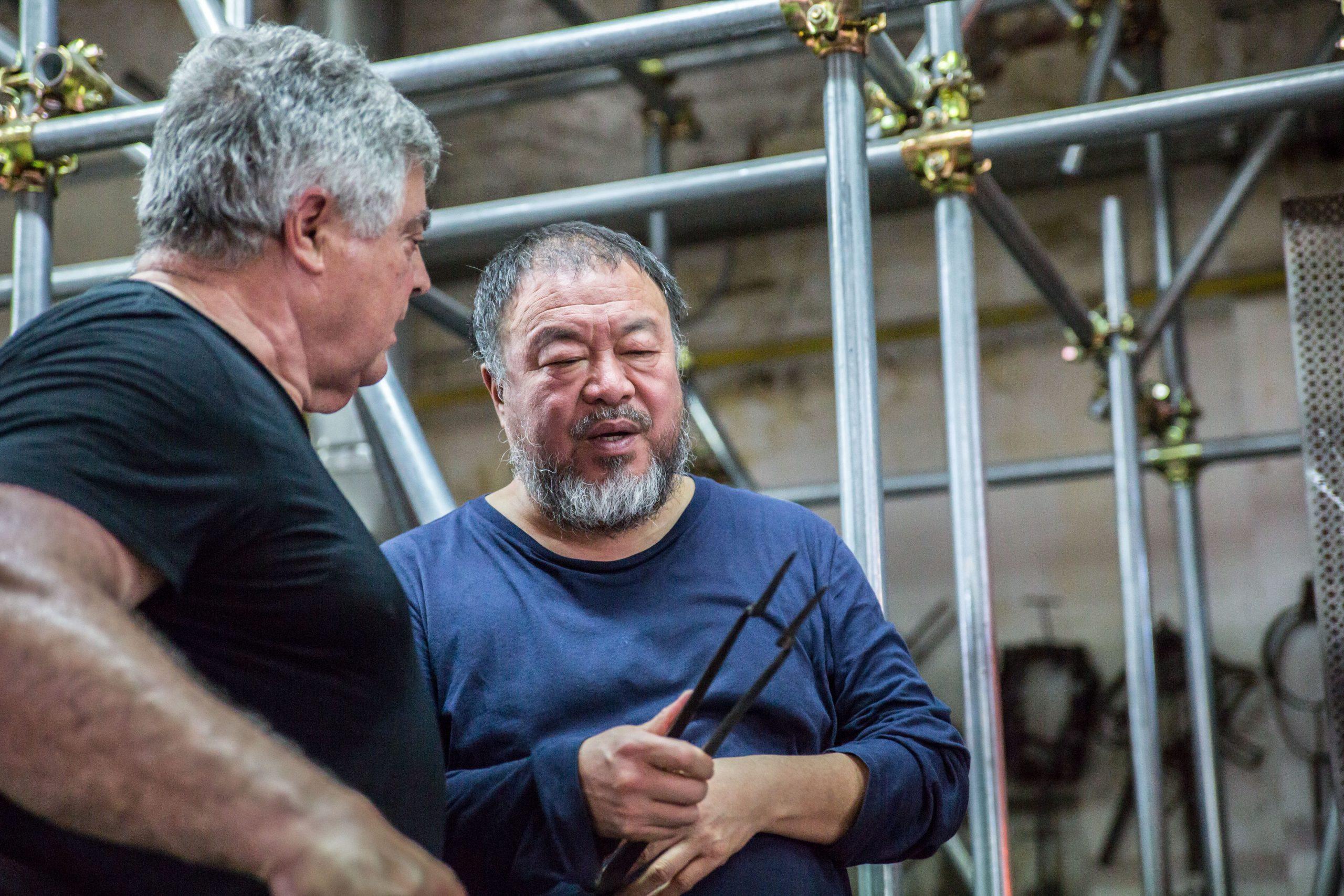 Ai Weiwei in Berengo Studio