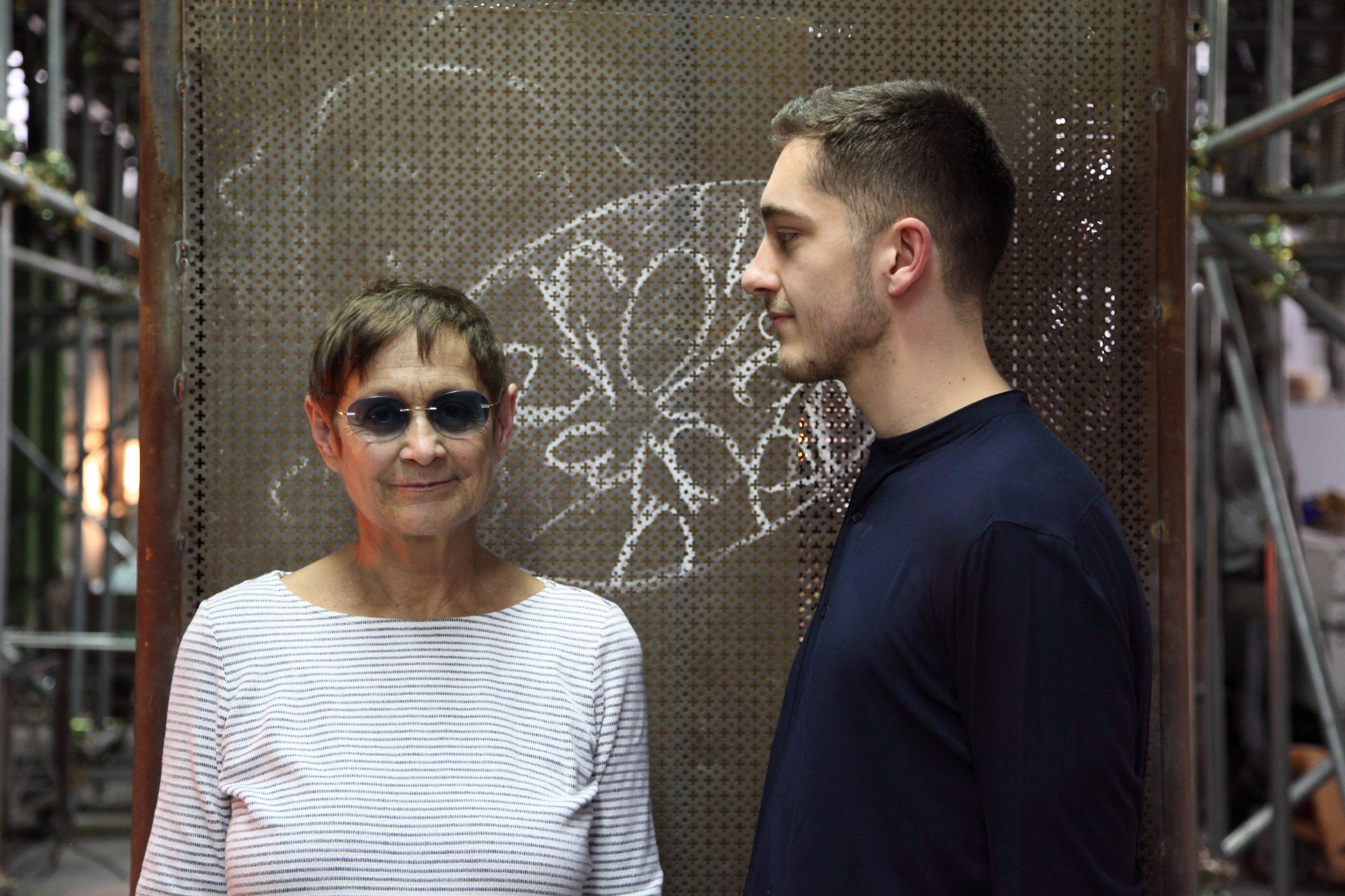 Brigitte Kowanz in Berengo Studio 2017