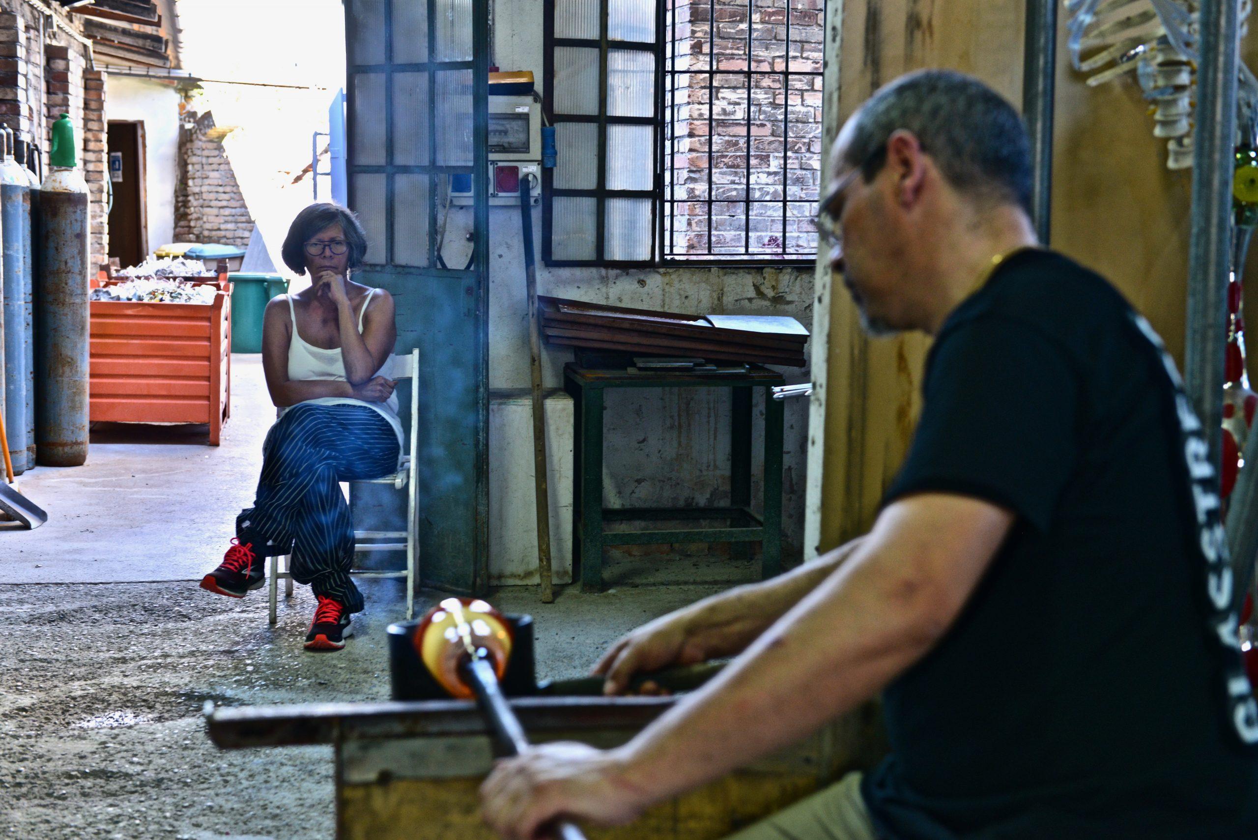 Maria Thereza Alves in Berengo Studio for Unbreakable: Women in Glass