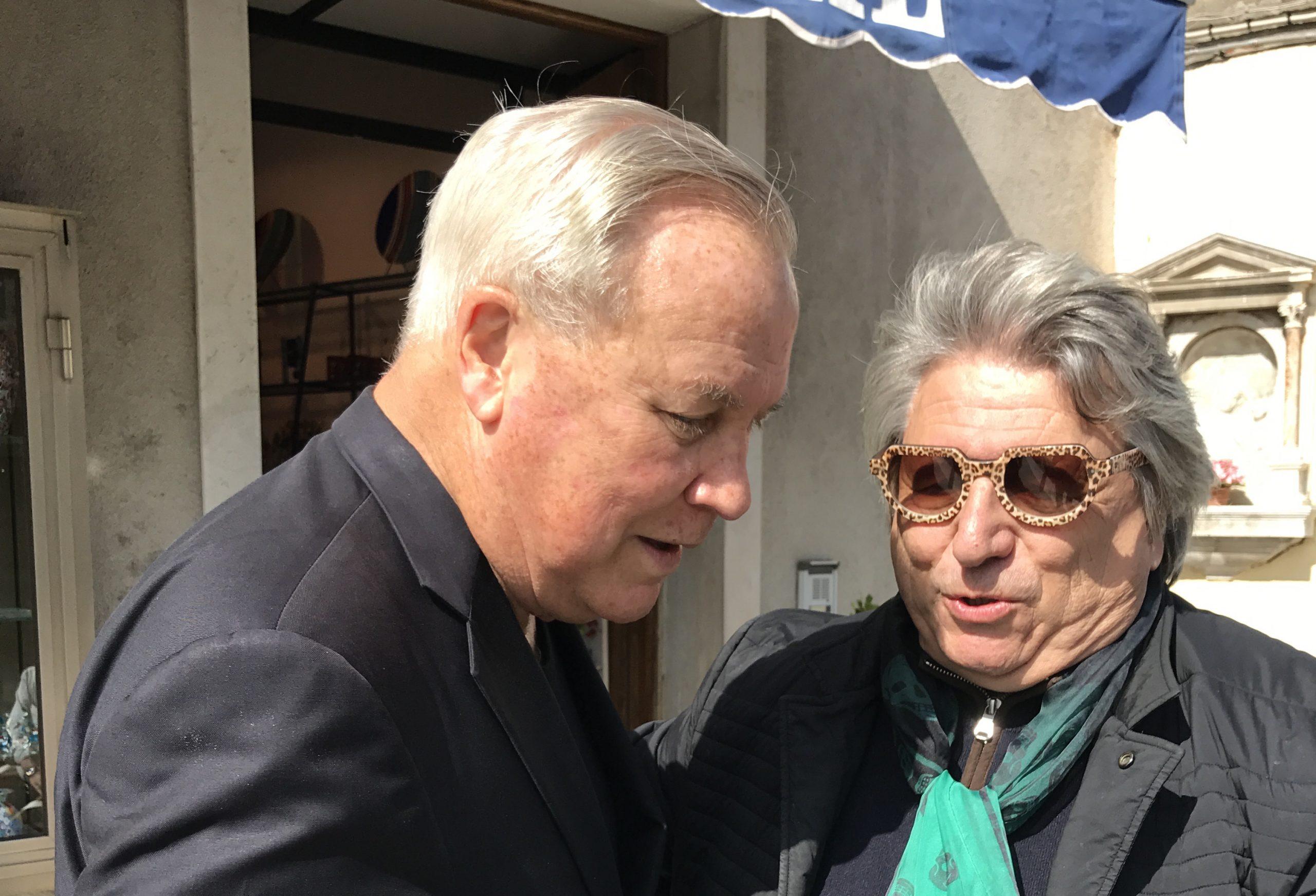 Robert Wilson and Adriano Berengo in Murano