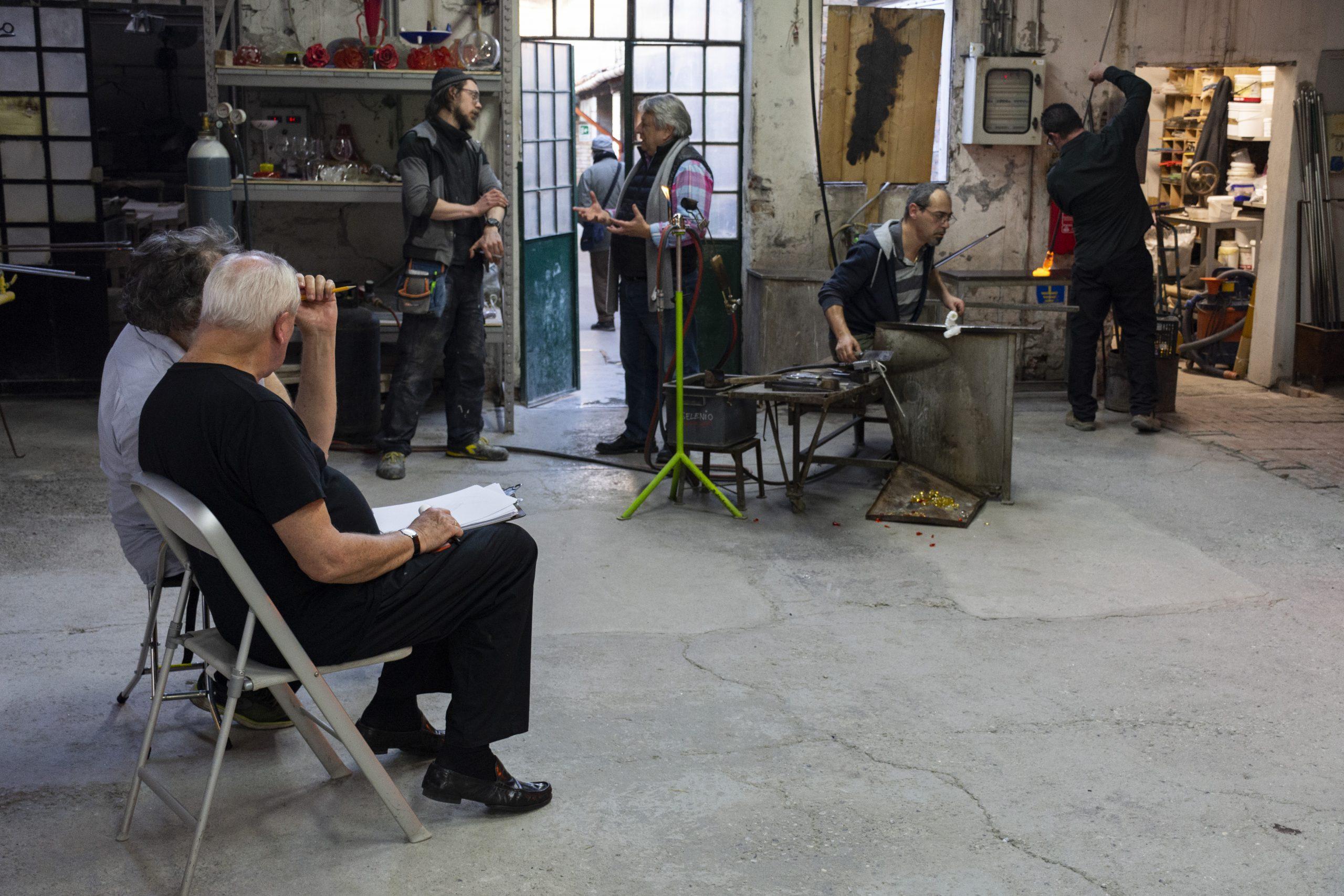Robert Wilson in Berengo Studio Furnace