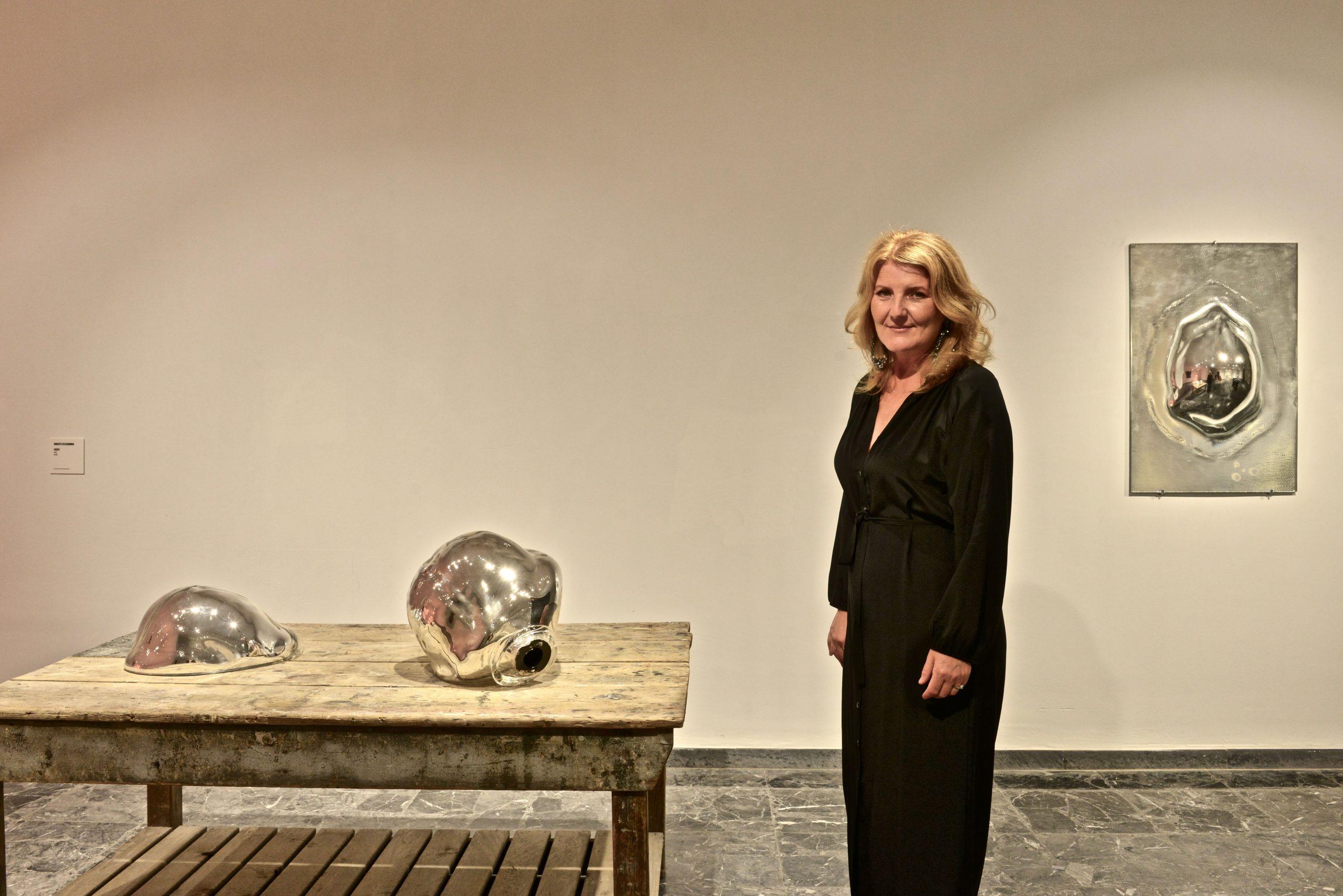 Charlotte Gyllenhammar at the Opening of Unbreakable: Women in Glass