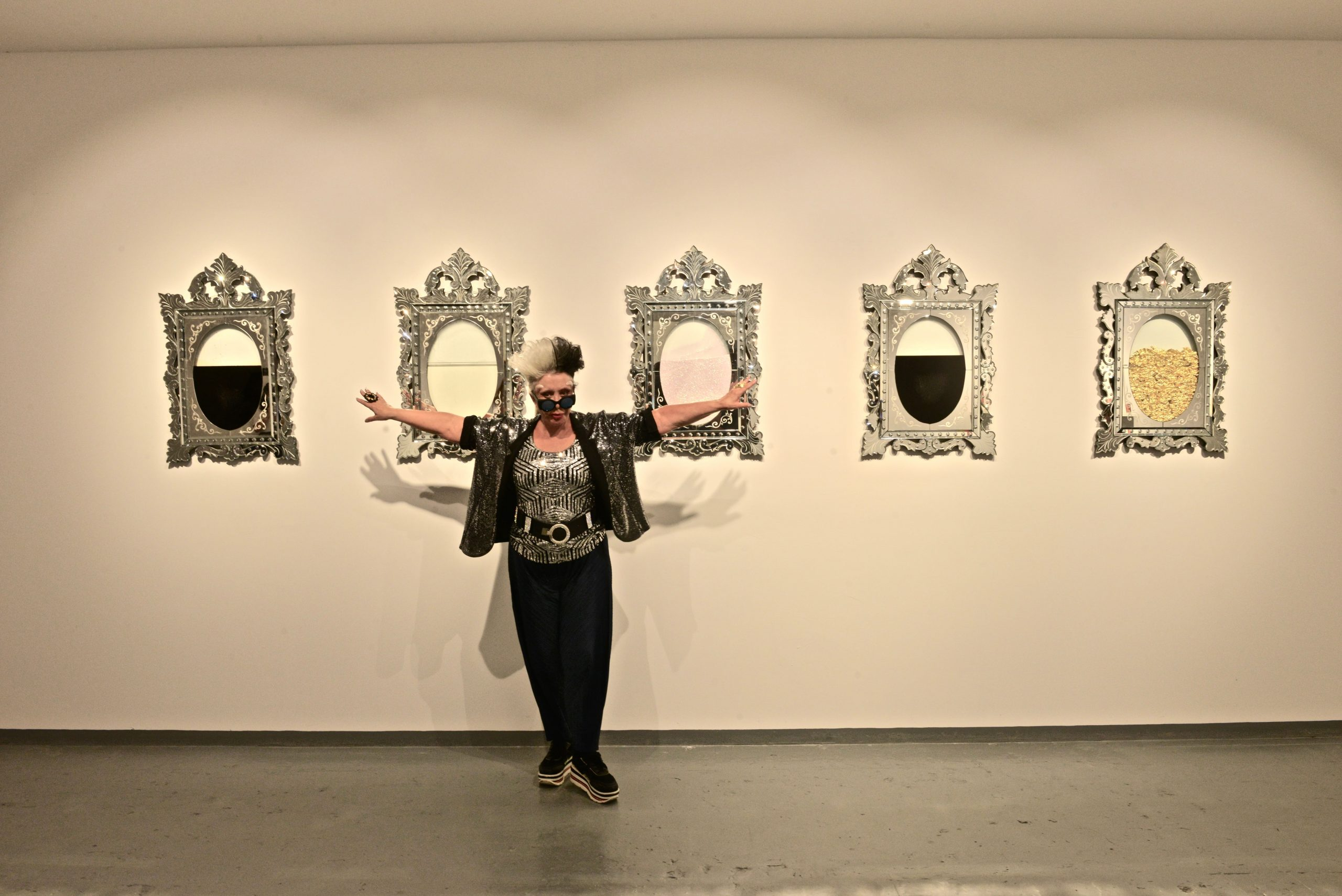 Orlan at the Opening of Unbreakable: Women in Glass