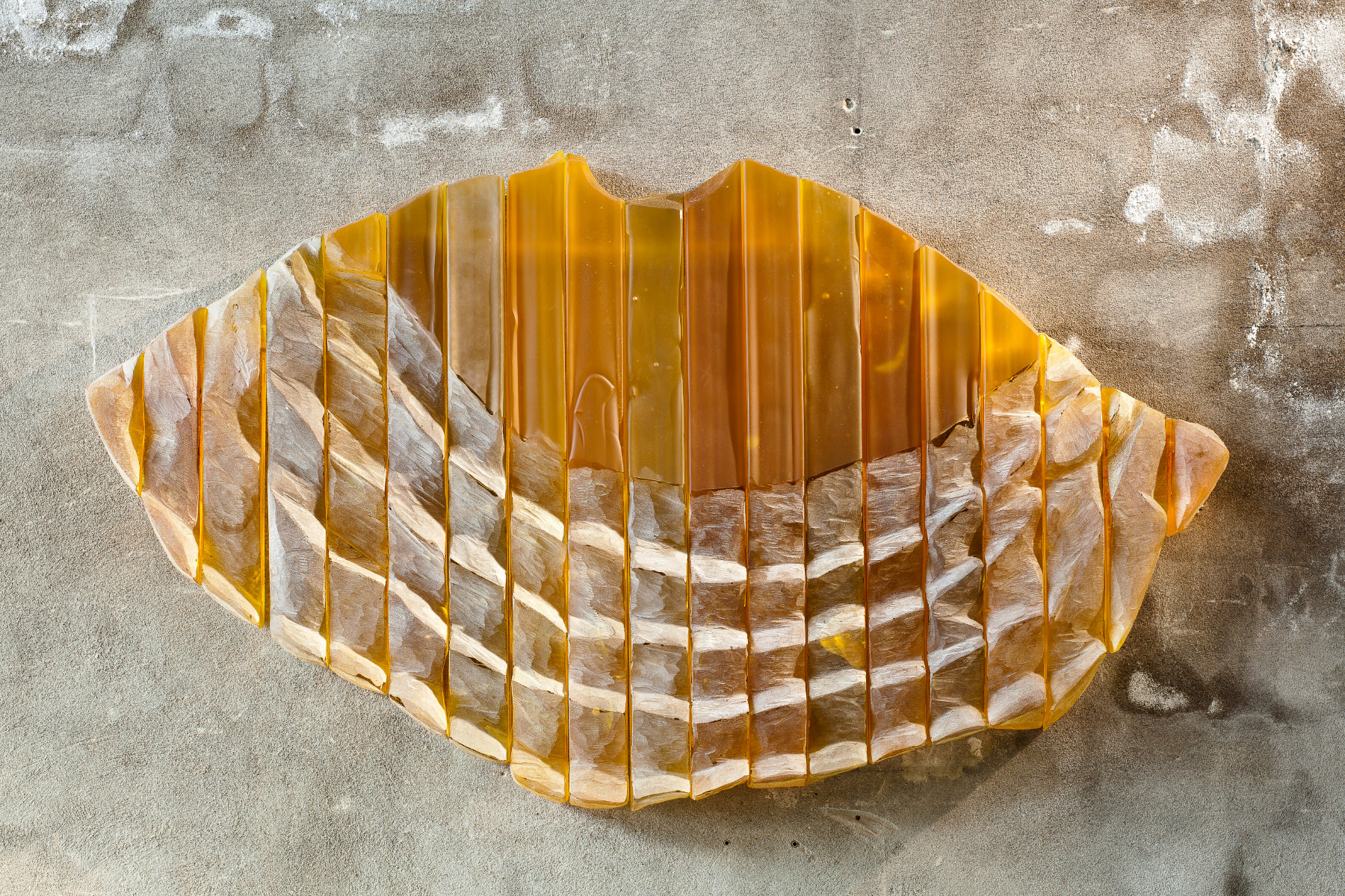 Ursula Von Rydingsvard's Glass Corrugated